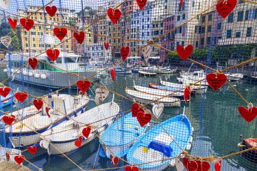 ITA13374AW Marina harbour, Camogli, Liguria, Italy,