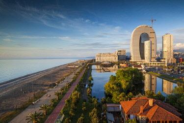 GG035RF Georgia, Batumi, Batumi Boulevard, seaside promenade, architecture
