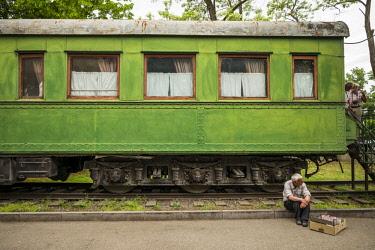 GG01276 Georgia, Gori, armored train wagon once used by Soviet dictator Joseph Stalin