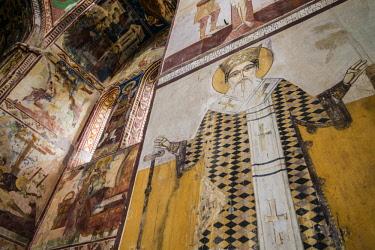 GG01295 Georgia, Kutaisi, Gelati Monastery, religious fresco