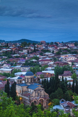 GG01298 Georgia, Kutaisi, high angle city skyline