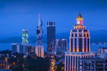 GG01307 Georgia, Batumi, city skyline