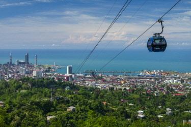 GG01309 Georgia, Batumi, Anuria Mountain, Argo Cable Car and city skyline