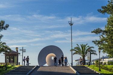 GG01310 Georgia, Batumi, Batumi Boulevard, seaside promenade