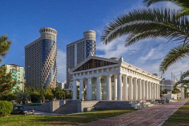 GG01311 Georgia, Batumi, Batumi Boulevard, seaside promenade, mock Parthenon building