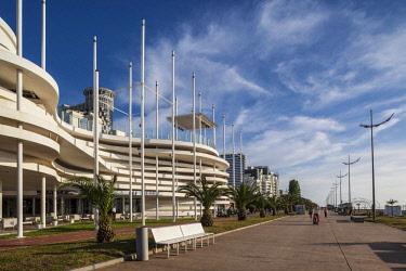 GG01312 Georgia, Batumi, Batumi Boulevard, seaside promenade, architecture