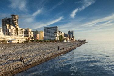 GG01314 Georgia, Batumi, Batumi Boulevard, seaside promenade, architecture