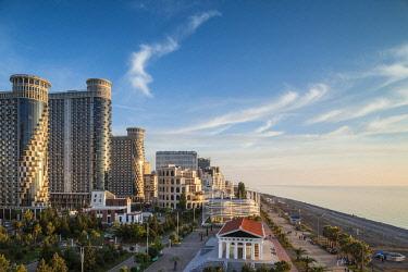 GG01315 Georgia, Batumi, Batumi Boulevard, seaside promenade, architecture