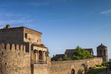 GG01356 Georgia, Kakheti Area, Telavi, Batonistsikhe Castle, castle walls