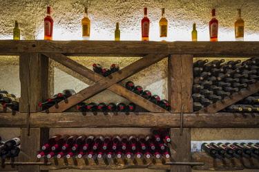 GG01364 Georgia, Kakheti Area, Kvareli, Winery Khareba, underground wine tasting area