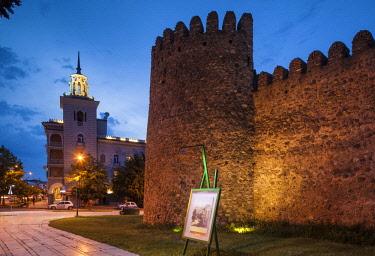 GG01366 Georgia, Kakheti Area, Telavi, Batonistsikhe Castle, castle walls