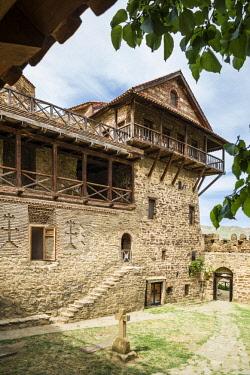GG01378 Georgia, Southeastern Georgia, Davit Gareja, Davit Gareja Monastery, Lavra church and monastery