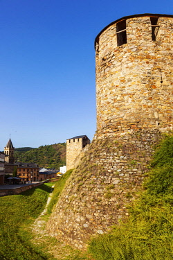 SPA8615 Spain, Castila y Leon, Ponferrada. The 12th Century Templar Castle.