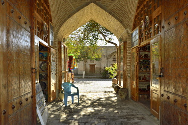 UZB0224AW Traditional bazaar of Bukhara, a UNESCO World Heritage Site. Uzbekistan