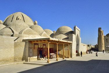UZB0226AW Tim Abdullah Khan bazaar. Bukhara, a UNESCO World Heritage Site. Uzbekistan