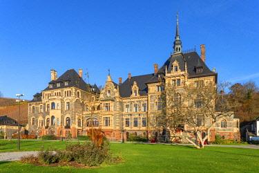 GER11507AW Lieser castle, Lieser, Mosel valley, Rhineland-Palatinate, Germany