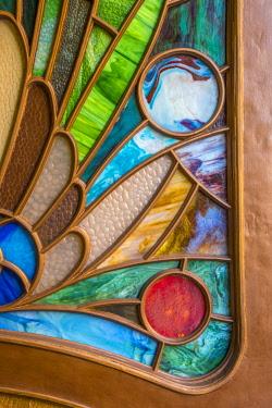 CZ01547 Czech Republic, Prague, New Town, Nove Mesto, Lucerna Palace Arcade, Art Deco door detail