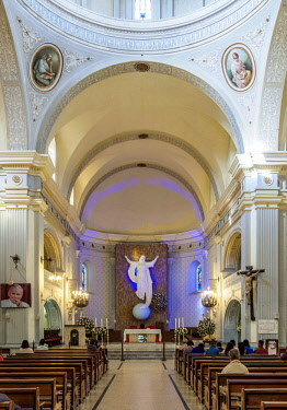 COL0673AW Cathedral Basilica of Our Lady of the Assumption, interior, Popayan, Cauca Department, Colombia