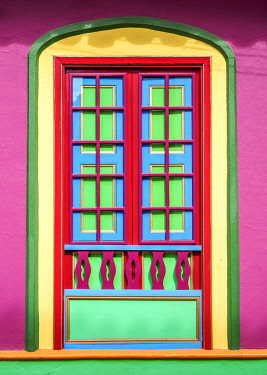 COL0690AW Colourful Architecture of Raquira, Boyaca Department, Colombia