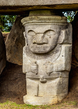COL0718AW Pre-Columbian Sculpture, San Agustin Archaeological Park, Huila Department, Colombia