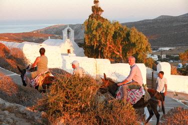 GRE1688AW Donkey Ride, Folegandros, Cyclades, Greece