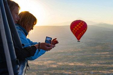 TUR1012 Turkey, Cappadocia, Goreme, Hotair ballooning at dawn