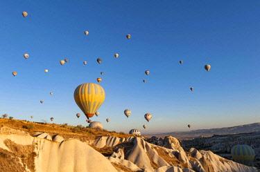TUR1014 Turkey, Cappadocia, Goreme, Hotair ballooning at dawn