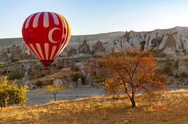TUR1016 Turkey, Cappadocia, Goreme, Hotair ballooning at dawn