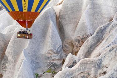 TUR1052 Turkey, Cappadocia, Goreme, Watching Hotair ballooning at dawn