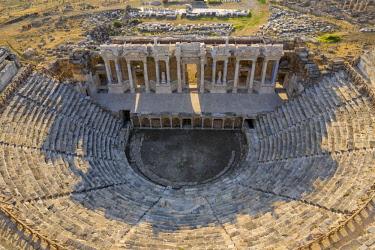 TK09401 Turkey, Denizli Province, Pamukkale, Hierapolis Pamukkale Archeological Site (UNESCO Site), Hierapolis Theater