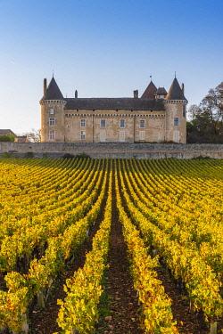 FRA10882AW France, Bourgogne-Franche-Comte, Burgundy, Saone-et-Loire, Rully. Chateau de Rully.