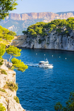 FRA10894AW France, Provence-Alpes-Cote d'Azur, French Riviera, Bouches-du-Rhone, Cassis. Calanque de Port Pin in Calanques national park.