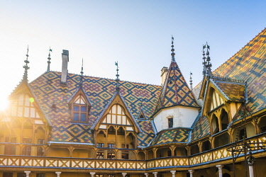 FRA10971AW France, Bourgogne-Franche-Comte, Burgundy, Cote-d'Or, Beaune. Hospices de Beaune.