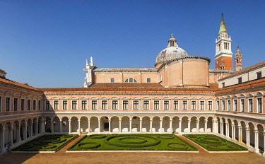 ITA13423AW San Giorgio Maggiore cloister, Giorgio Cini Foundation. Venice, Veneto, Italy, Europe.