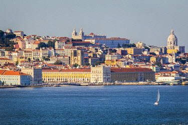 POR10125AW Tramway, Alfama district, Lisbon, Portugal