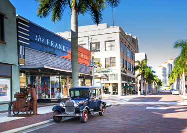 US11964 United States, Florida, Fort Myers, Downtown, 1928 Ford Model A, Henry Ford Wintered In Fort Myers