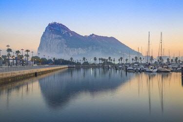 GB044RF Gibraltar, View of Rock of Gibraltar
