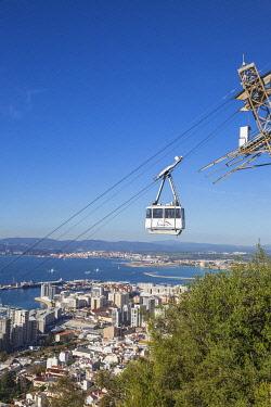 GB054RF Gibraltar, Rock of Gibraltar, Cable car
