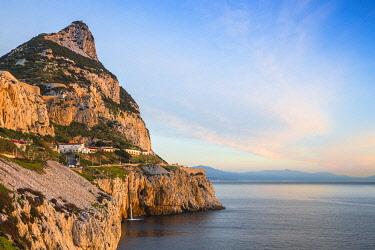 GB01154 Gibraltar, View of Rock of Gibraltar