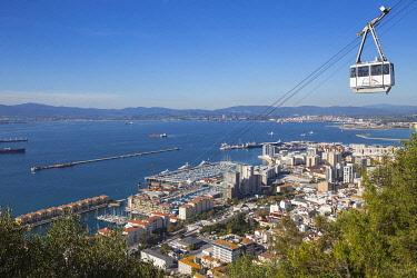 GB01173 Gibraltar, Rock of Gibraltar, Cable car