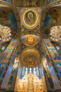 CLKFV99811 Interiors of the Church of the Saviour on Spilled Blood. Saint Petersburg, Russia.