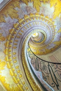 CLKMK98882 Melk, Wachau, Lower Austria, Austria, Europe. Staircase inside the Benedectine abbey