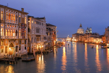 ITA13539AW View of The Cran Canal from the Accademia Bridge, Venice, Veneto, Italy, Europe.