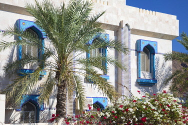 OMA2869AW A colourful house in Al Hamra, Jebel Shams, Oman