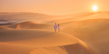 UE02561 UAE, Abu Dhabi Province, Liwa Oasis, Rub Al Khali desert (Empty Quarter) MR