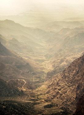 JOR0770AW Dana Biosphere Reserve, elevated view, Tafilah Governorate, Jordan