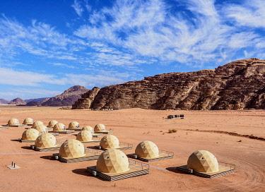 JOR1173AW Sun City Camp, elevated view, Wadi Rum, Aqaba Governorate, Jordan