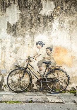 MY02326 Street art, Armenian Street, George Town, Penang Island, Malaysia