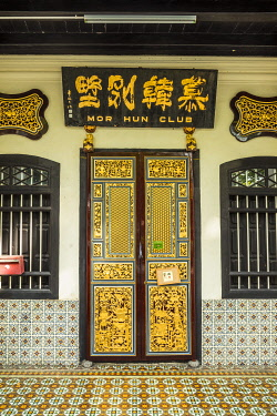 MY02332 Traditional 19th century shophouse, George Town, Penang Island, Malaysia