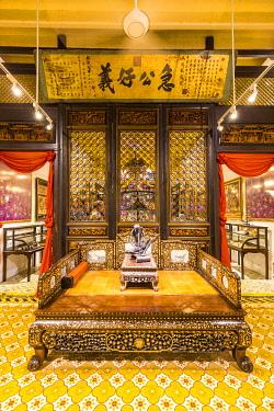 MY02392 Opium bed, Pinang Peranakan Mansion, George Town, Penang Island, Malaysia